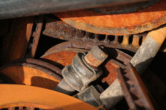 Automobile Parts. Removed from service and awaiting recycling royalty free stock photo
