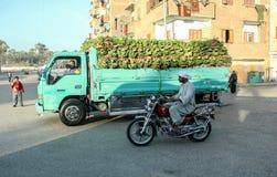 Automobile in pieno delle banane nell'egitto Luxor Immagini Stock Libere da Diritti