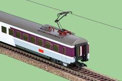 Automobile pranzante del treno del giocattolo Fotografia Stock Libera da Diritti