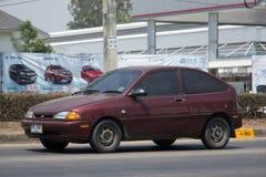 Automobile privée de Ford Fiesta American de voiture de berline Images libres de droits