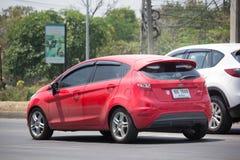 Automobile privée de Ford Fiesta American de voiture de berline Image libre de droits