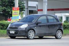 Automobile privata di Eco, Nissan March Immagini Stock Libere da Diritti