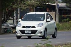 Automobile privata Nissan March di Eco Immagini Stock Libere da Diritti