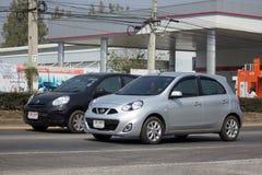 Automobile privata Nissan March di Eco Fotografie Stock