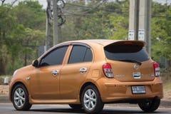 Automobile privata Nissan March di Eco Immagini Stock