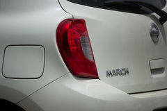 Automobile privata Nissan March di Eco Fotografia Stock