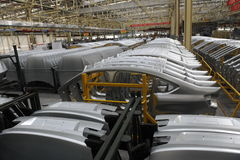 Automobile production. Wuhang hubei china Stock Image