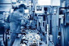 Automobile production line stock image