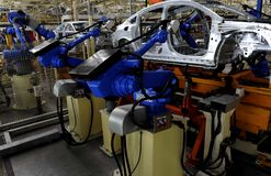 Automobile production. Line In the Wuhan Stock Photography