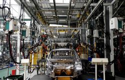 Automobile production. Line In the Wuhan Royalty Free Stock Image