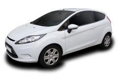 Automobile a quattro porte compatta bianca Fotografie Stock Libere da Diritti