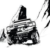 Automobile a quattro ruote illustrazione di stock