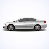 Automobile realistica, berlina d'argento Immagini Stock