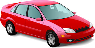 Automobile red sedan Royalty Free Stock Image