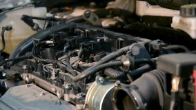Automobile repair shop stock video footage