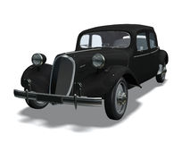 Automobile retro. Computer image 3D, old automobile white background Royalty Free Stock Photography