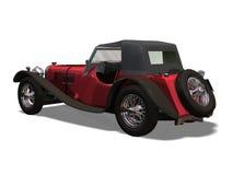 Automobile retro. Computer image 3D, old automobile white background Royalty Free Stock Photo