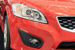 Automobile rossa Fotografia Stock Libera da Diritti