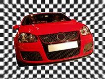 Automobile rossa Immagini Stock Libere da Diritti