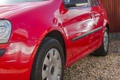 Automobile rossa Fotografie Stock