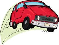 Automobile rossa avventata Immagine Stock Libera da Diritti