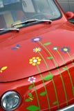 Automobile rossa calda Fotografie Stock