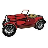 Automobile rossa d'annata Immagine Stock Libera da Diritti