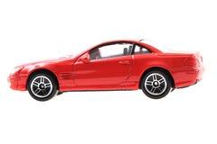 automobile rossa del giocattolo del metallo Immagini Stock