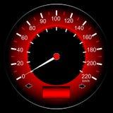 Automobile rossa del tachimetro Fotografia Stock