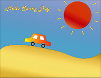 Automobile rossa il giorno soleggiato Fotografia Stock Libera da Diritti