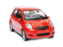 Automobile rossa isolata Immagine Stock Libera da Diritti