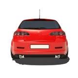 Automobile rossa isolata su fondo bianco Fotografia Stock Libera da Diritti