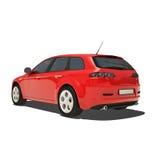 Automobile rossa isolata su fondo bianco Fotografie Stock