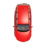 Automobile rossa isolata su fondo bianco Immagini Stock Libere da Diritti