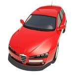 Automobile rossa isolata su fondo bianco Immagine Stock
