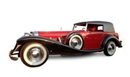 Automobile rossa lunga dell'annata Fotografia Stock