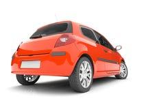 Automobile rossa su una priorità bassa bianca Fotografia Stock Libera da Diritti