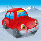 Automobile rossa sulla strada Immagini Stock Libere da Diritti