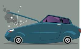 Automobile rotta con un cappuccio aperto Fotografie Stock Libere da Diritti