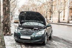 Automobile rotta senza un autista Immagine Stock