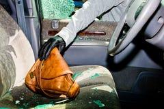 Automobile rotta-su, furto Fotografie Stock