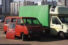 Automobile rotta sulla via immagine stock libera da diritti