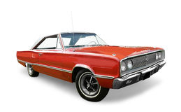 Automobile rouge de Dodge Coronet Images stock