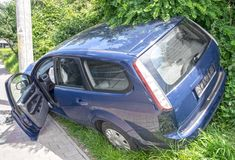 Automobile rovinata Fotografia Stock