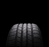 Automobile rubber tires isolated on black Stock Image