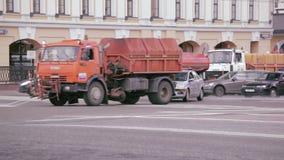 Automobile russa di servizio della pattuglia della strada