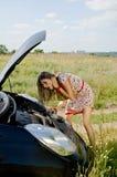 Automobile scompigliata in su Immagine Stock