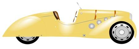 automobile scoperta a due posti 1938 Immagine Stock Libera da Diritti