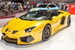 Automobile scoperta a due posti 2015 di Hamann Lamborghini Aventador Immagini Stock