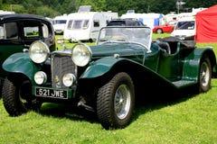 Automobile scoperta a due posti 1937 di Jaguar dell'annata immagini stock libere da diritti